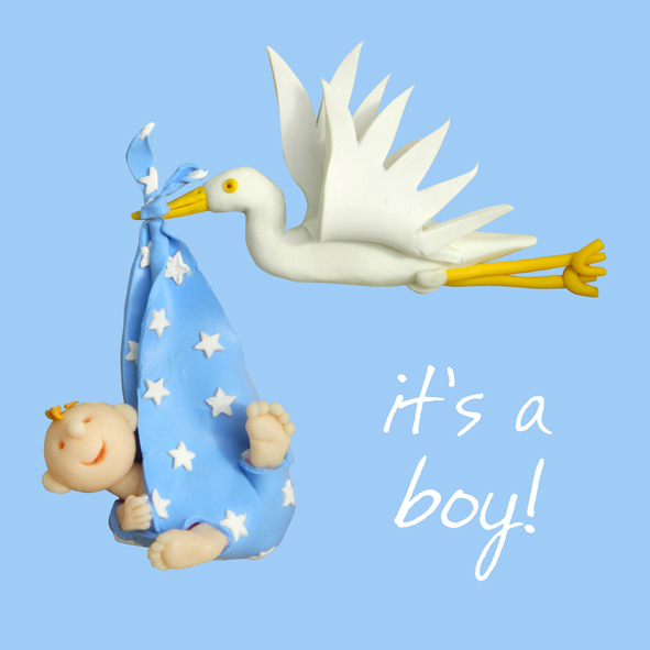 It\u0027s A Boy New Baby Boy Greeting Card One Lump or Two Cards Love