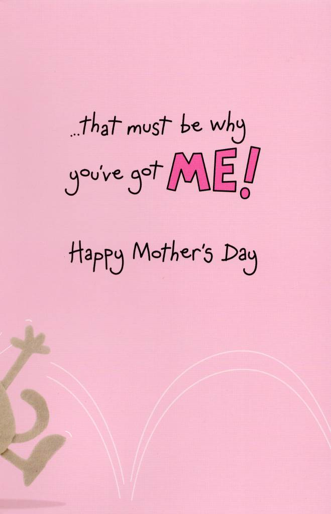 Best Mum In World Mother\u0027s Day Card With Badge Funny Giggles