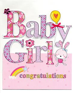 Congenial Large New Baby Girl Congratulations Greeting Card Large New Baby Girl Congratulations Greeting Card Cards Love Kates Congratulations Baby Girl Pics Congratulations Baby Girl Balloons