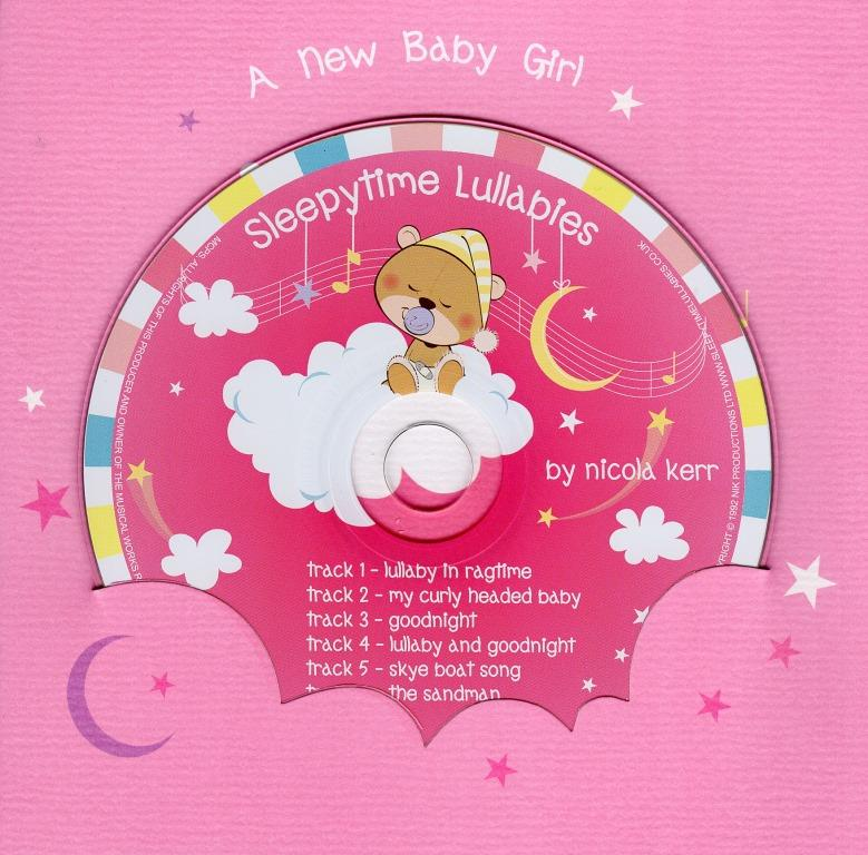 New Baby Girl Lullaby CD Greeting Card Cards Love Kates