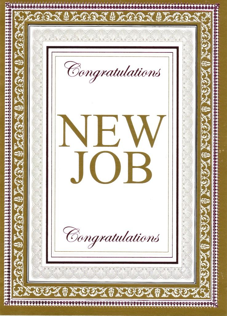 Congratulations New Job Greeting Card Cards Love Kates