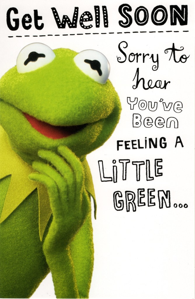 Kermit The Frog Get Well Soon Card Cards Love Kates - get well soon card
