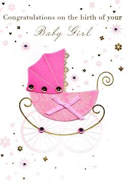 Majestic Congratulations Birth New Baby Girl Greeting Card Congratulations Birth New Baby Girl Greeting Card Cards Love Kates Congratulations On Your Baby Girl Card Congratulations On Your Baby Girl C