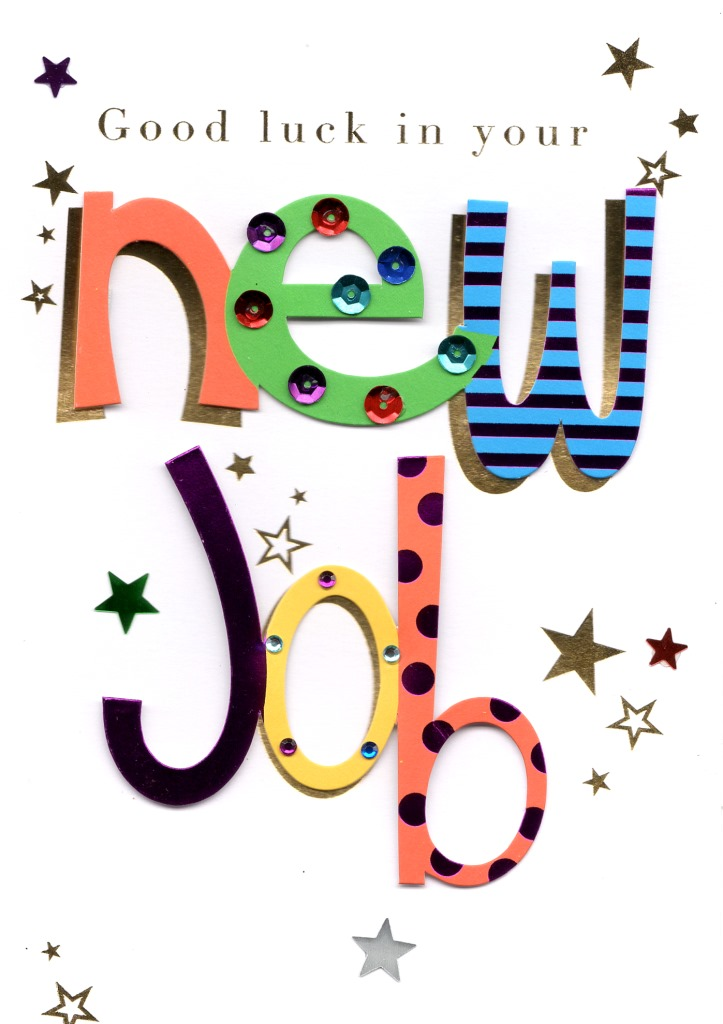 Good Luck In Your New Job Greeting Card Cards Love Kates - new job cards