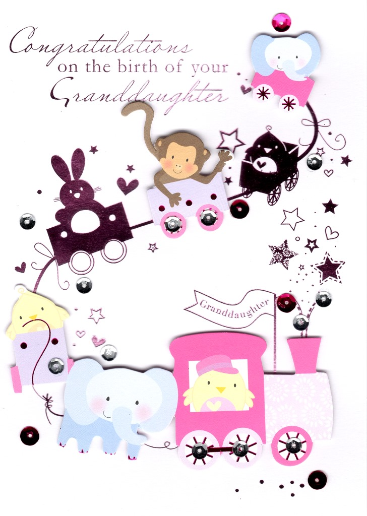 Congratulations Birth New Baby Granddaughter Greeting Card Cards