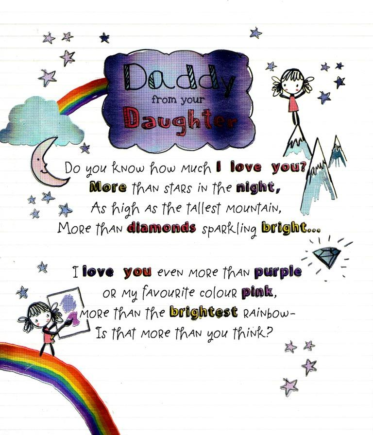 To Daddy From Your Daughter Father\u0027s Day Card Cards Love Kates