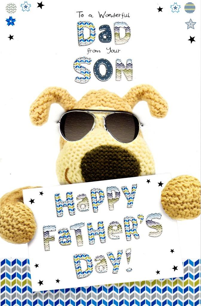 Boofle Wonderful Dad From Your Son Happy Father\u0027s Day Card Cards - father day cards