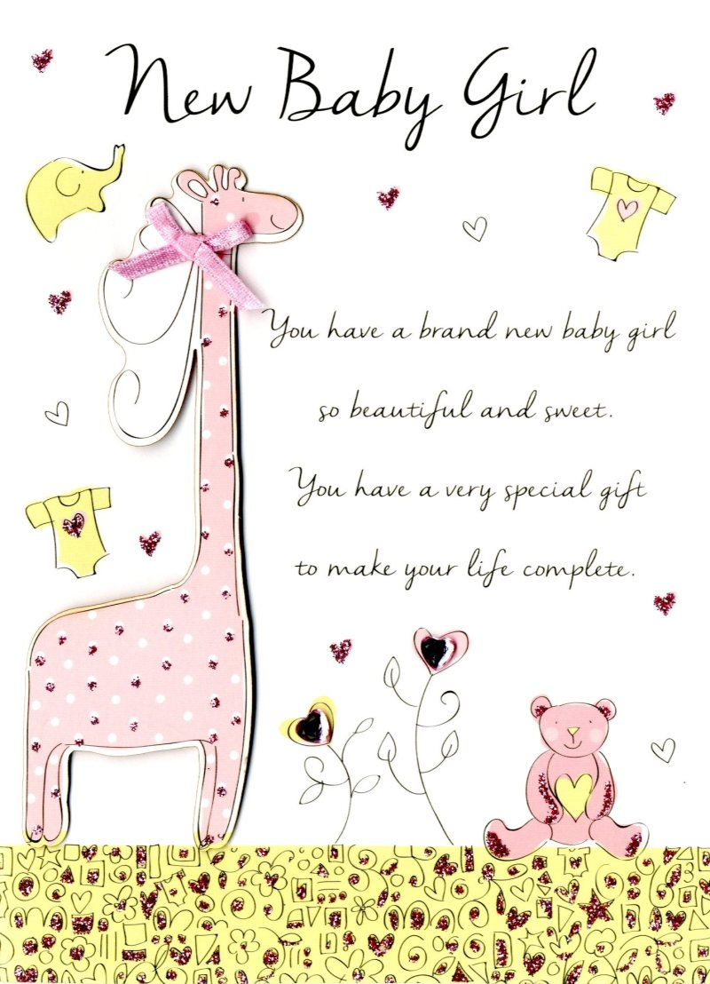 Catchy New Baby Girl Congratulations Greeting Card New Baby Girl Congratulations Greeting Card Cards Love Kates Congratulations On Your Baby Girl Islamic Congratulations On Your Baby Girl Messages