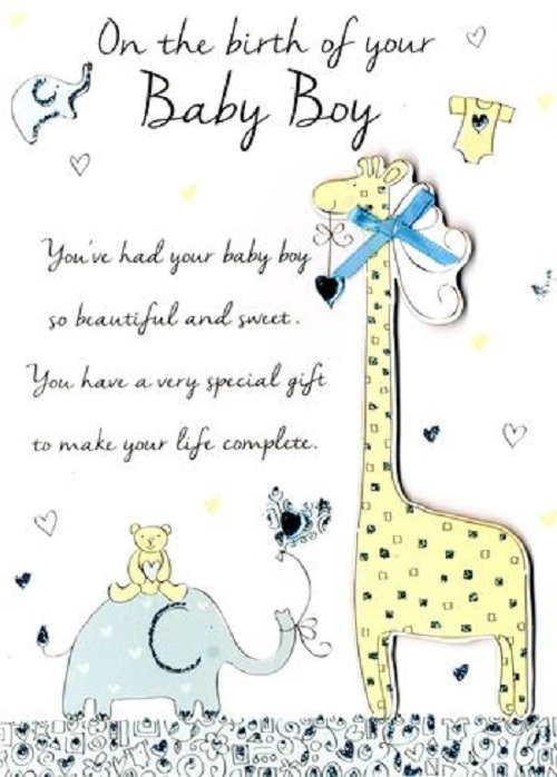 New Baby Boy Congratulations Greeting Card Second Nature Just To Say - congratulation for the baby boy
