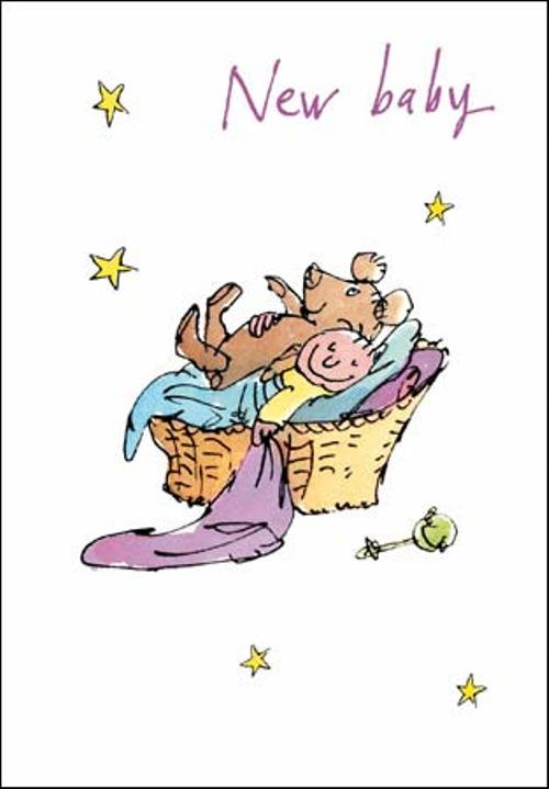 Quentin Blake New Baby Congratulations Greeting Card Cards Love - new baby congratulations card