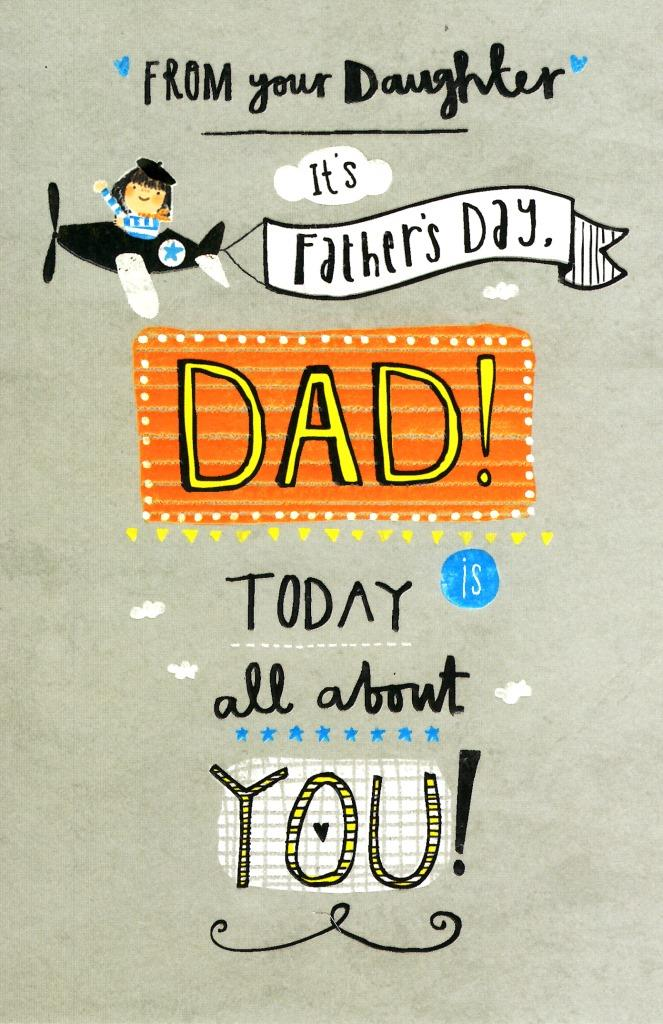 Dad From Your Daughter Happy Father\u0027s Day Card Cards Love Kates