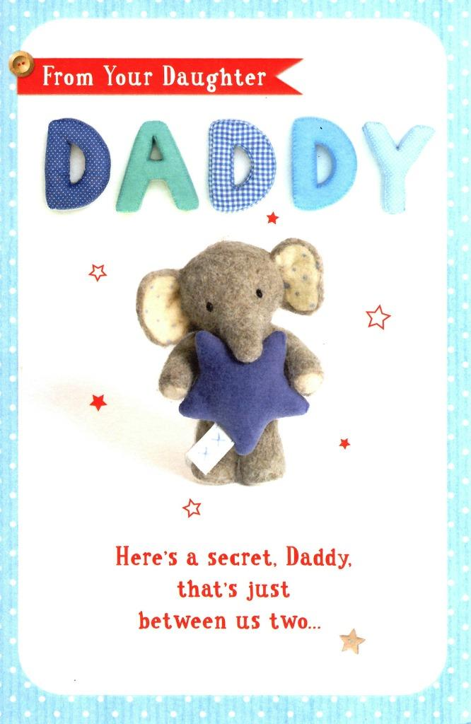 From Daughter Daddy Elliot  Buttons Father\u0027s Day Card Cards