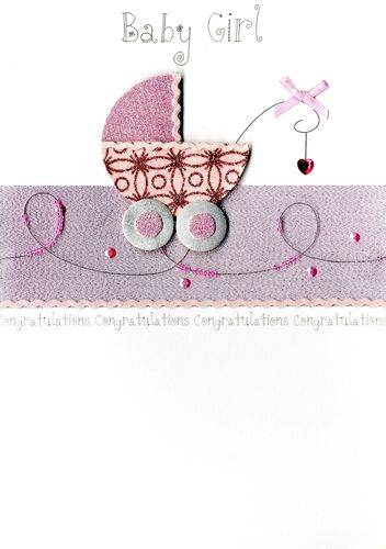 Large Second Nature Luxury New Baby Girl Greeting Card Baby Boy