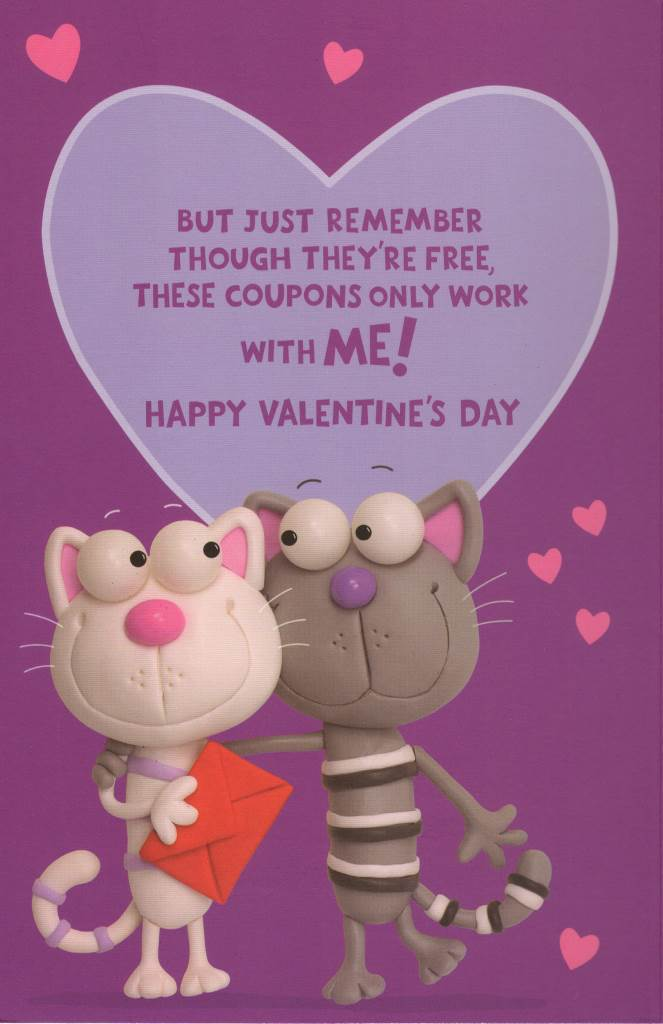 To The One I Love Fun Sex Coupons Inside Valentine\u0027s Day Card - valentines cards words