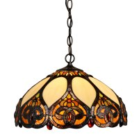 Traditional Trinity 60 watt Pendant Light Ceiling Tiffany ...
