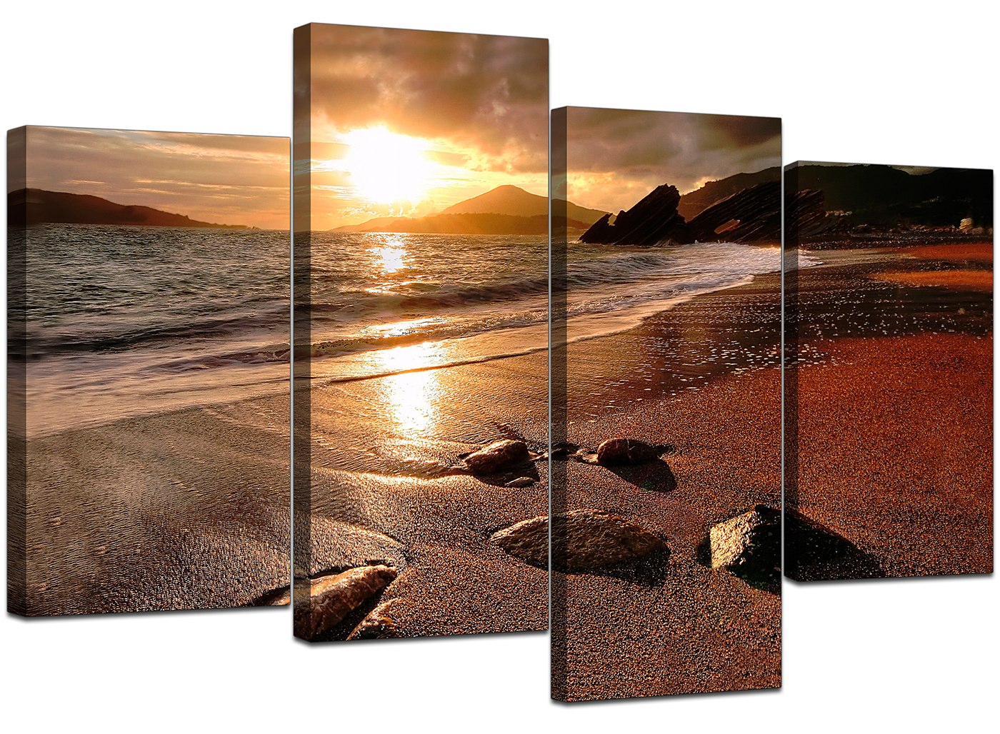 Large Canvas Prints Cheap Large Sunset Beach Canvas Wall Art Pictures Living Room