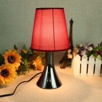77387311 Black Chrome Red Touch Dimmer Bedside Table ...