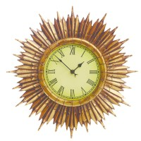 Gardman Traditional Outdoor Sunburst Wall Clock, 40cm ...