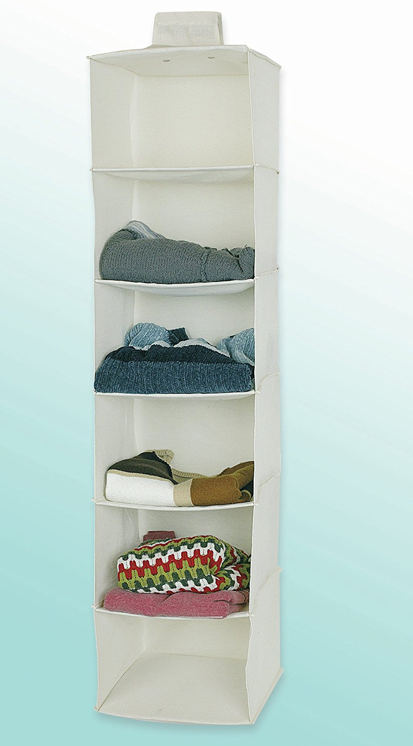 Jocca 6 Shelves Hanging Organizer For Clothes Wardrobe Or