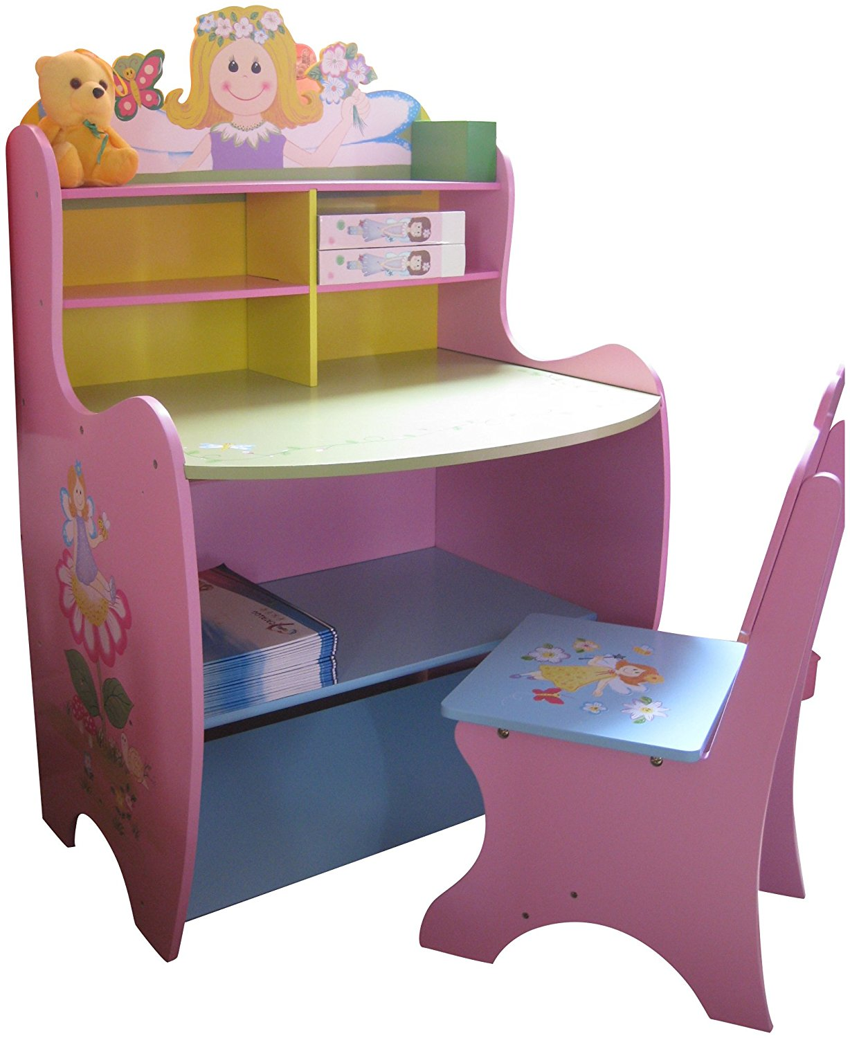 Childrens Desk Chair Childrens Desk Chair Wooden Writing Storage Fairy Bedroom
