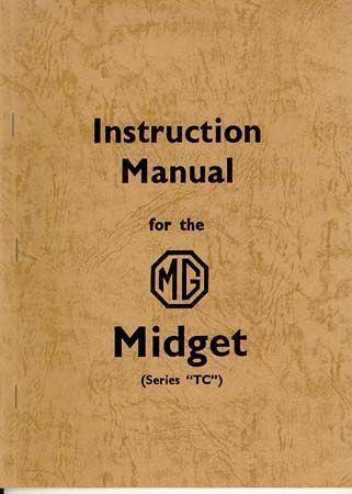 MG TC OFFICAL Instructional Manual maintenance eBay - instructional manual