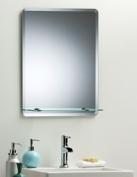BATHROOM MIRROR Modern Stylish RECTANGULAR WITH SHELF ...