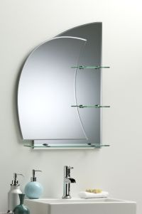 BATHROOM MIRROR With Shelves Stunning NAUTICAL Design ...