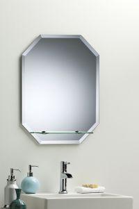 BATHROOM MIRROR Great Value OCTAGON WITH SHELF 60cm x 45cm ...
