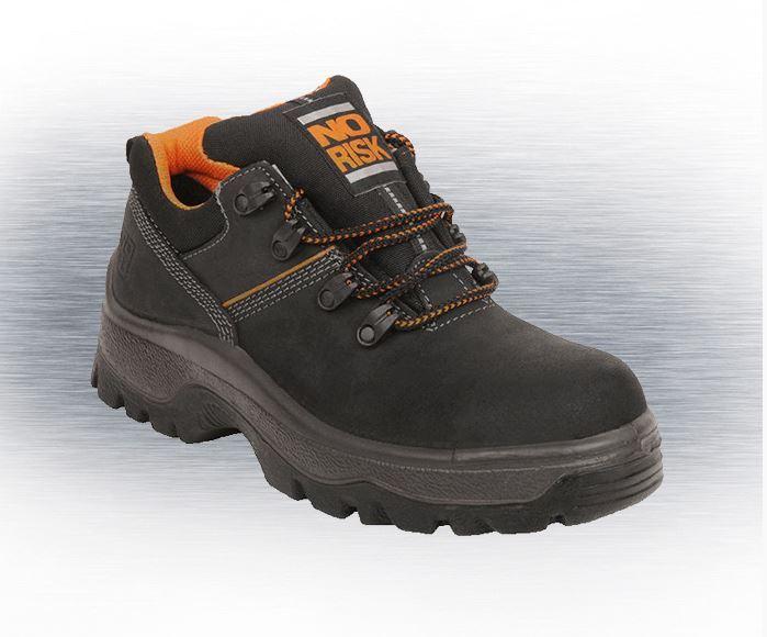 No Risk King S3 Src Safety Shoe Nubuk Leather Black