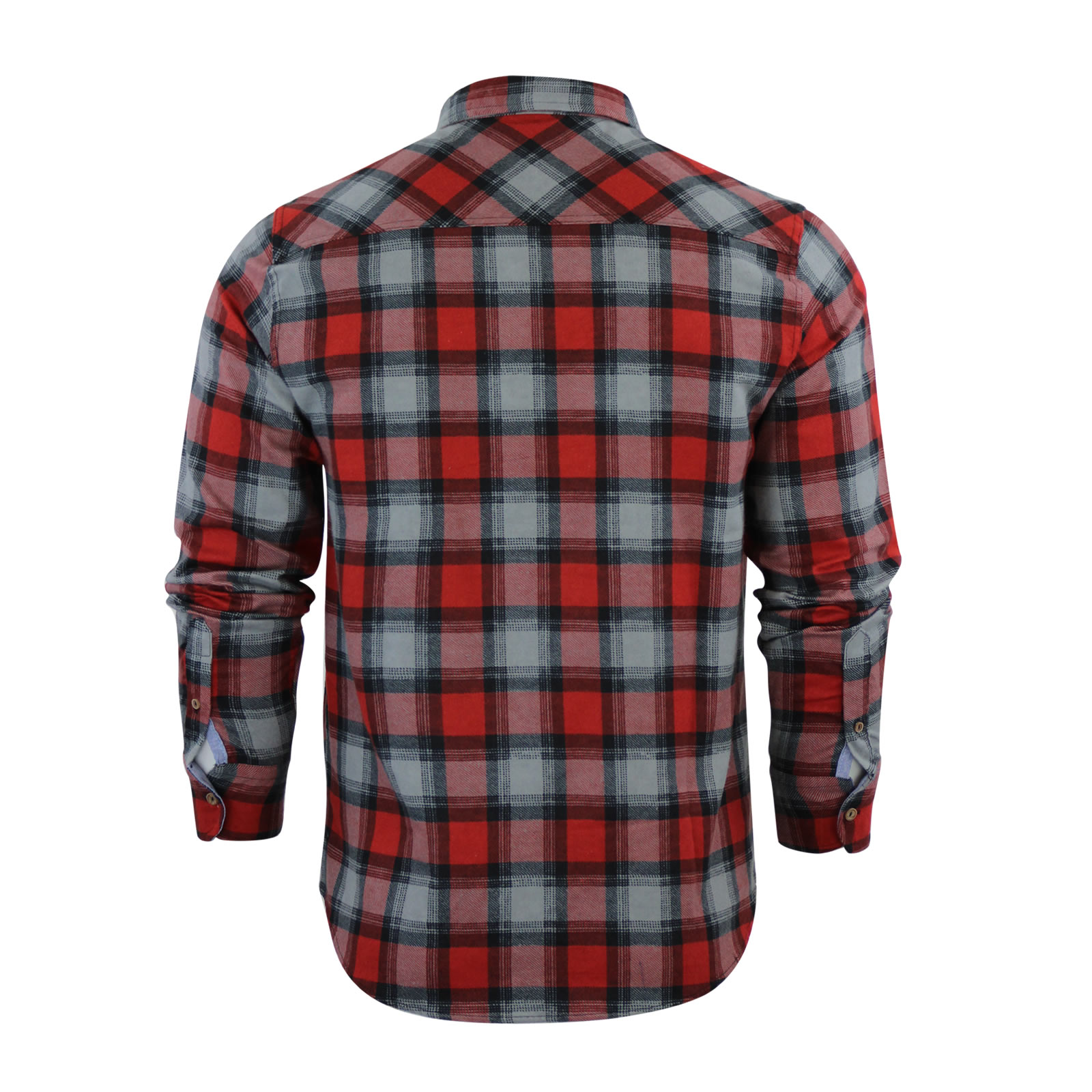 Bettwäsche Flanell Fleece Mens Check Shirt Brave Soul Flannel Brushed Cotton Long