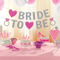 HEN Night Party Bride to Be Glitter Banner Party ...