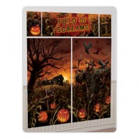 Halloween Field of Screams Scene Setter Evil Pumpkin BIG ...