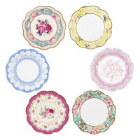12 Luxury Vintage Style Afternoon Tea Party paper Plates ...