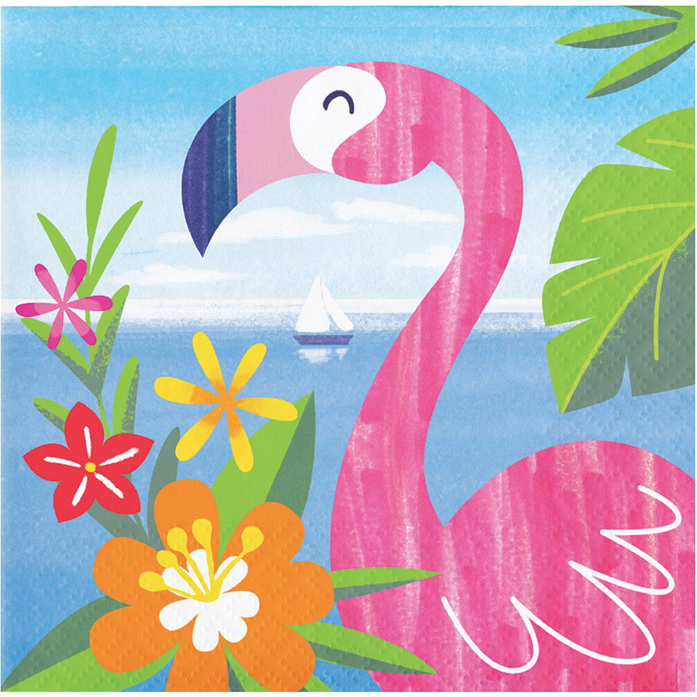 Canape Design Hawaii Details About 16 X Lush Luau Tropical Party Flamingo Canape Beverage Napkins Hawaiian Beach