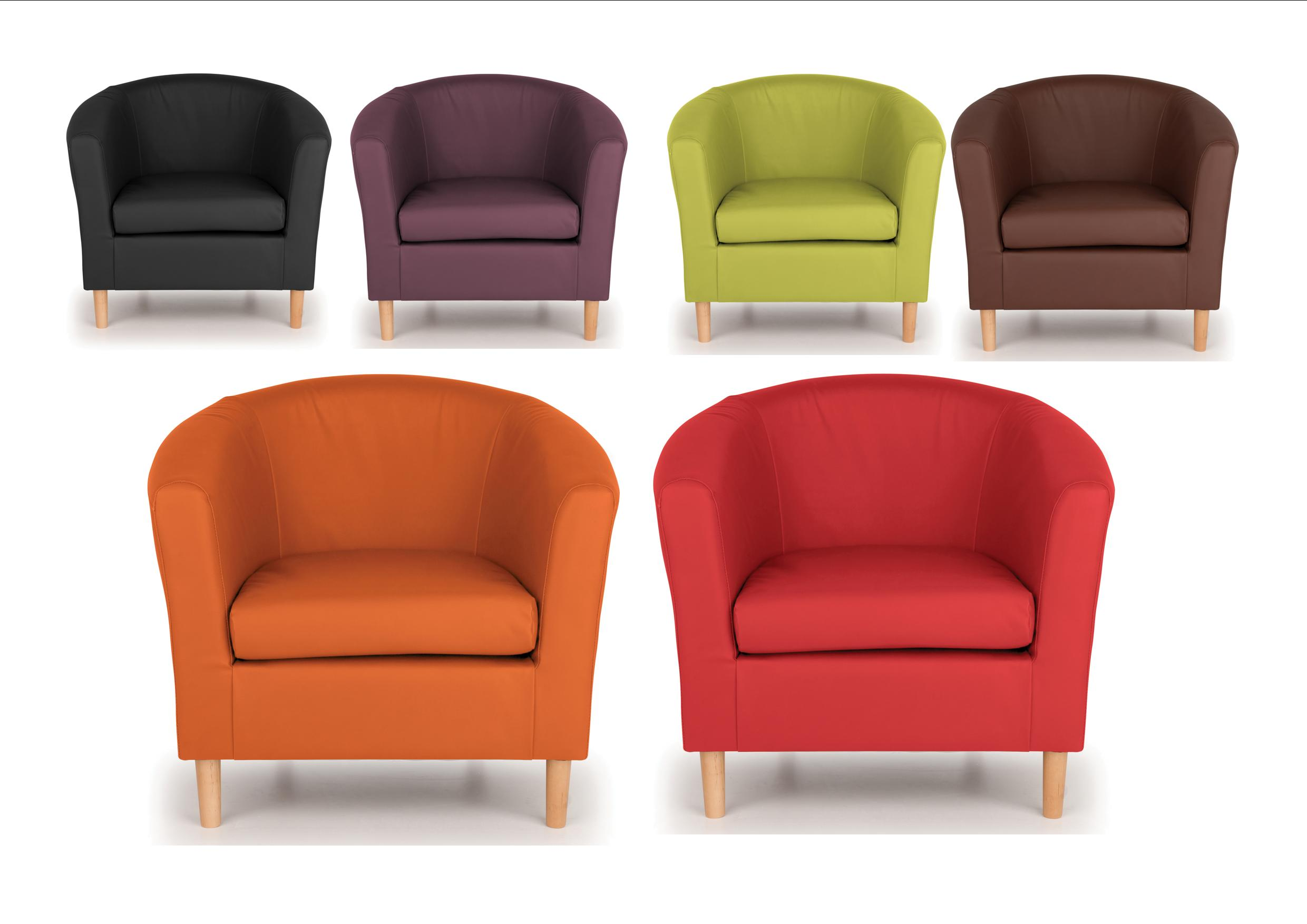 Tub Chairs Details About Nicole Tub Chairs Brown Black Lime Orange Plum Red Modern Design