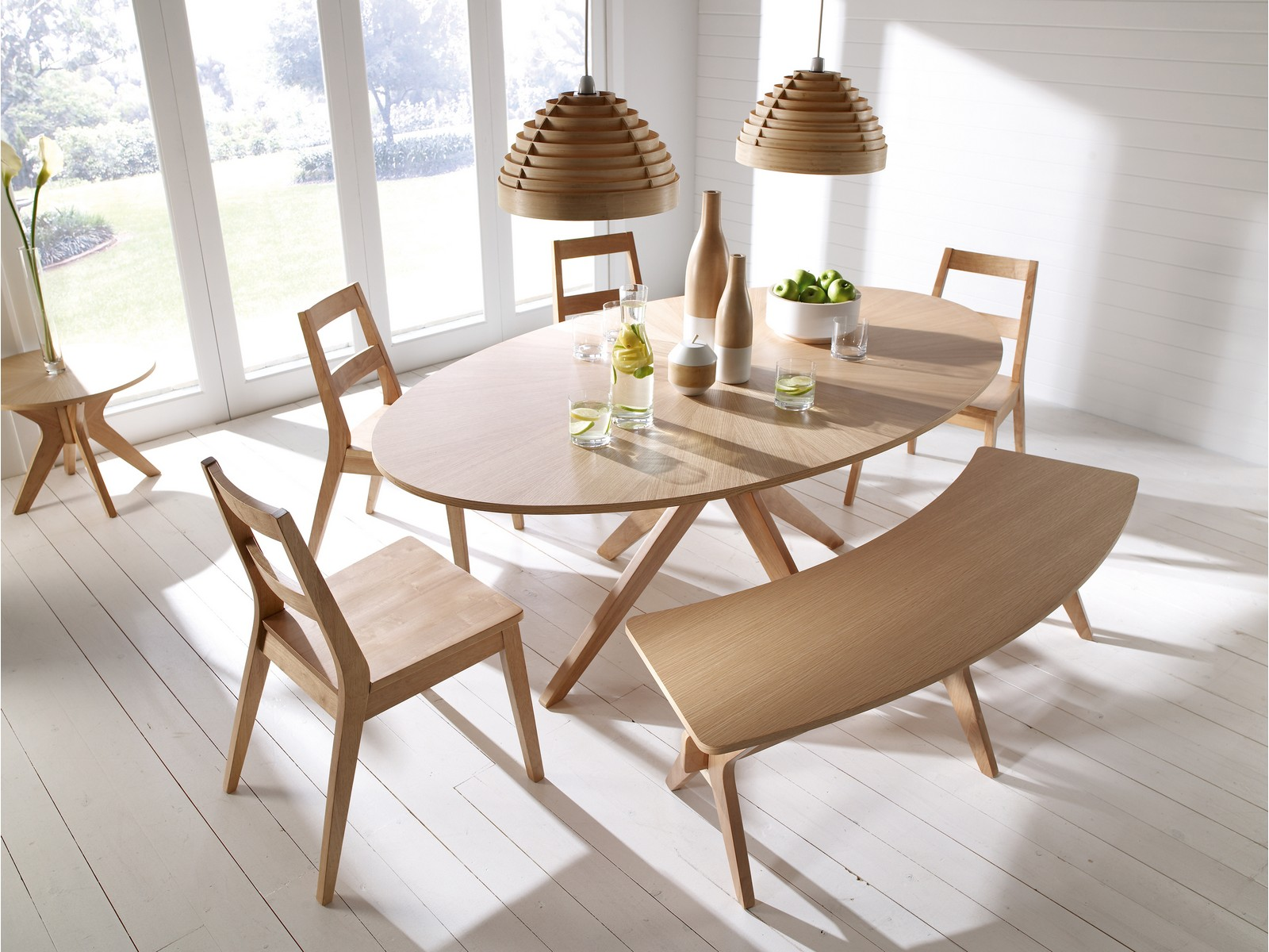 Malmo Scandinavian Style Dining Furniture Tables Chairs