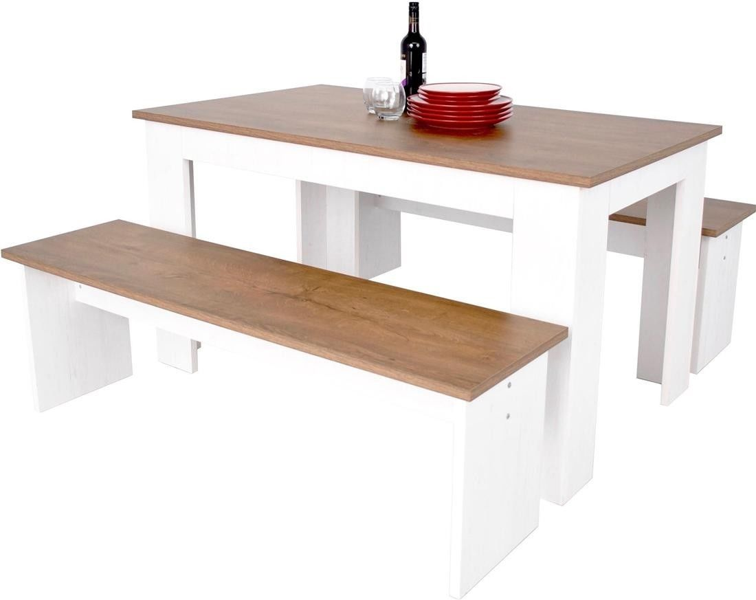 Dining Table To Seat 20 Kendal Kitchen Dining Table And Bench Seat Set 3d Textured