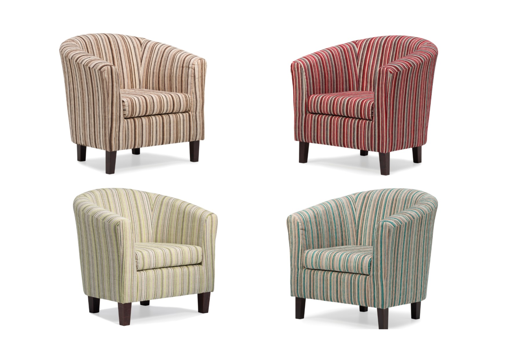 Red Striped Chair Dorset Stripe Tub Chair Available In Red Chocolate