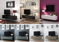 High Gloss TV Cabinet Entertainment Unit | Floating Wall ...