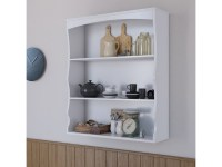 Polar White Wall Mounted Shelves Painted White 3 Book ...