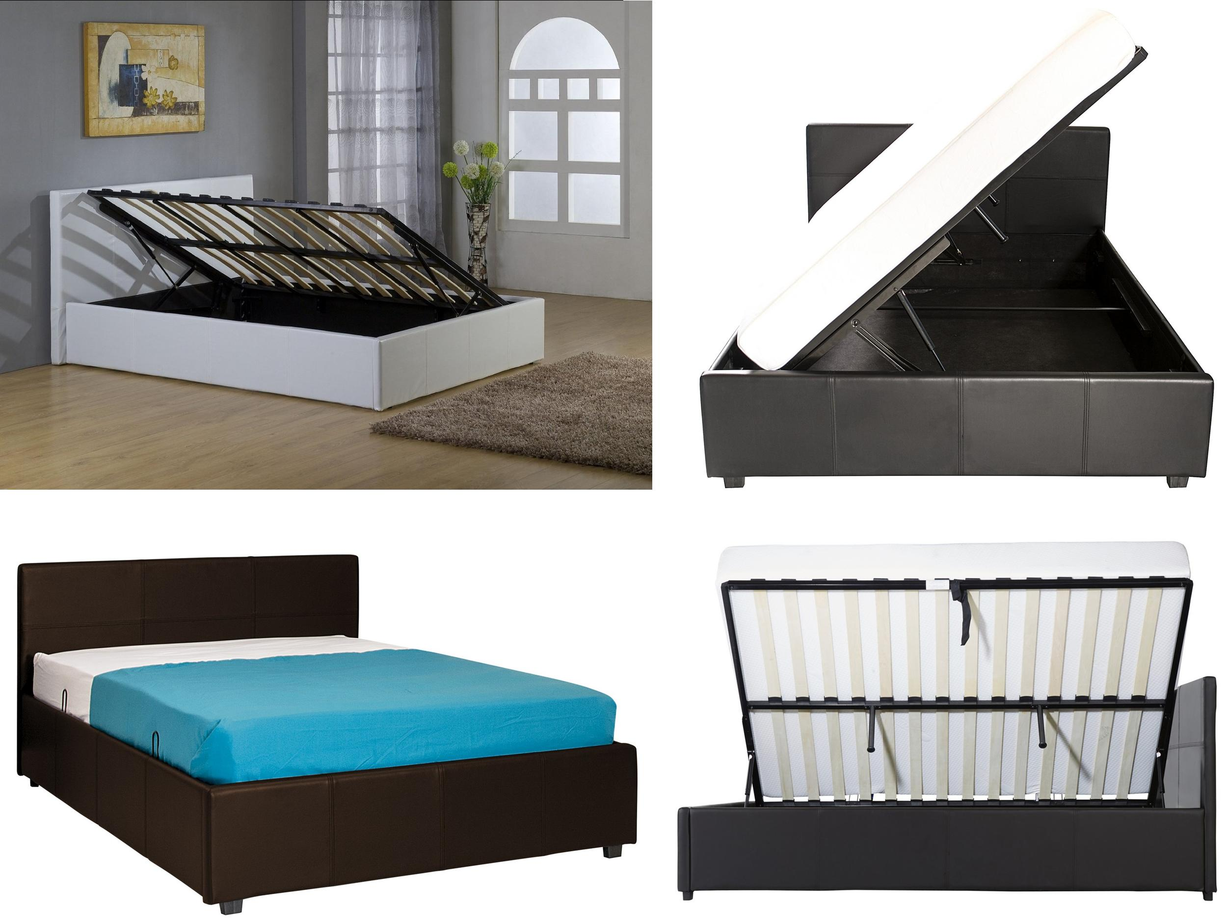 Gas Lift Ottoman Bed Details About Side Lift Ottoman Storage Bed Single Small Double Double Kingsize Gas Lift