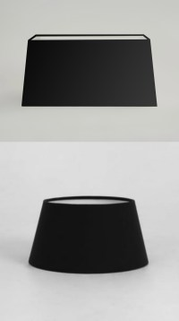 Modern Black Fabric Table Lamp Light Shade Round Drum ...