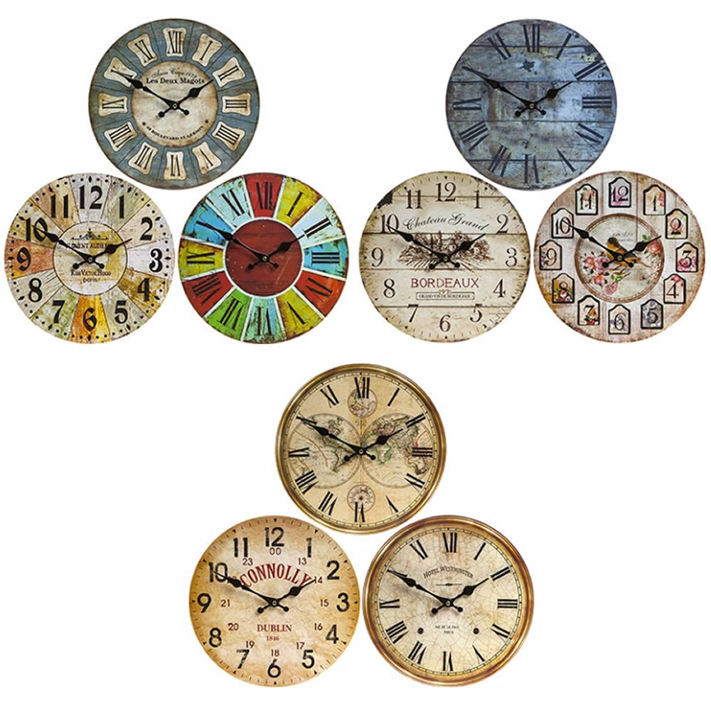 30CM VINTAGE Style Home Wall Clock Interior Decor Kitchen