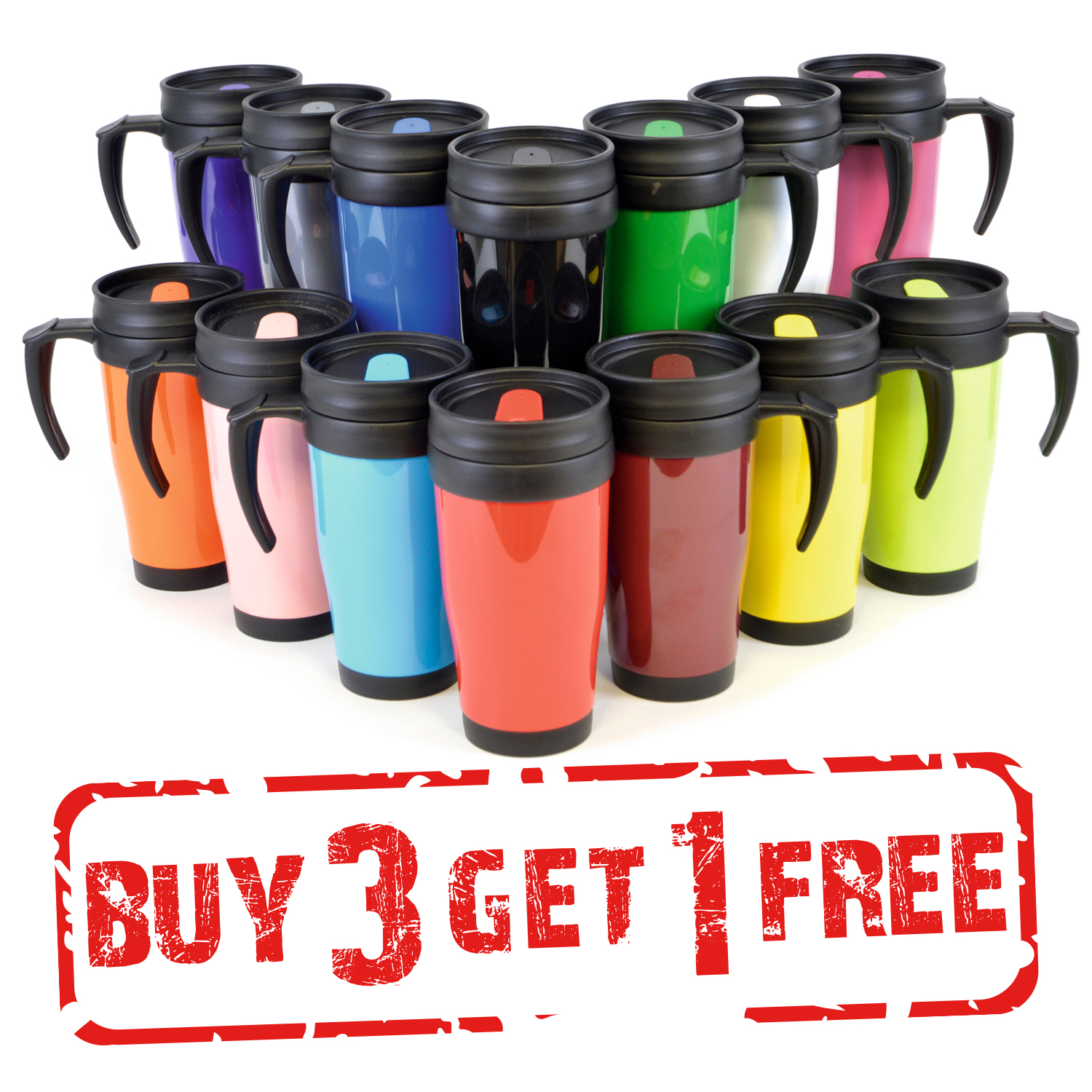 Double Handled Coffee Mugs Thermal Travel Mug Tee Coffe Hot Drink Cup Handle Double