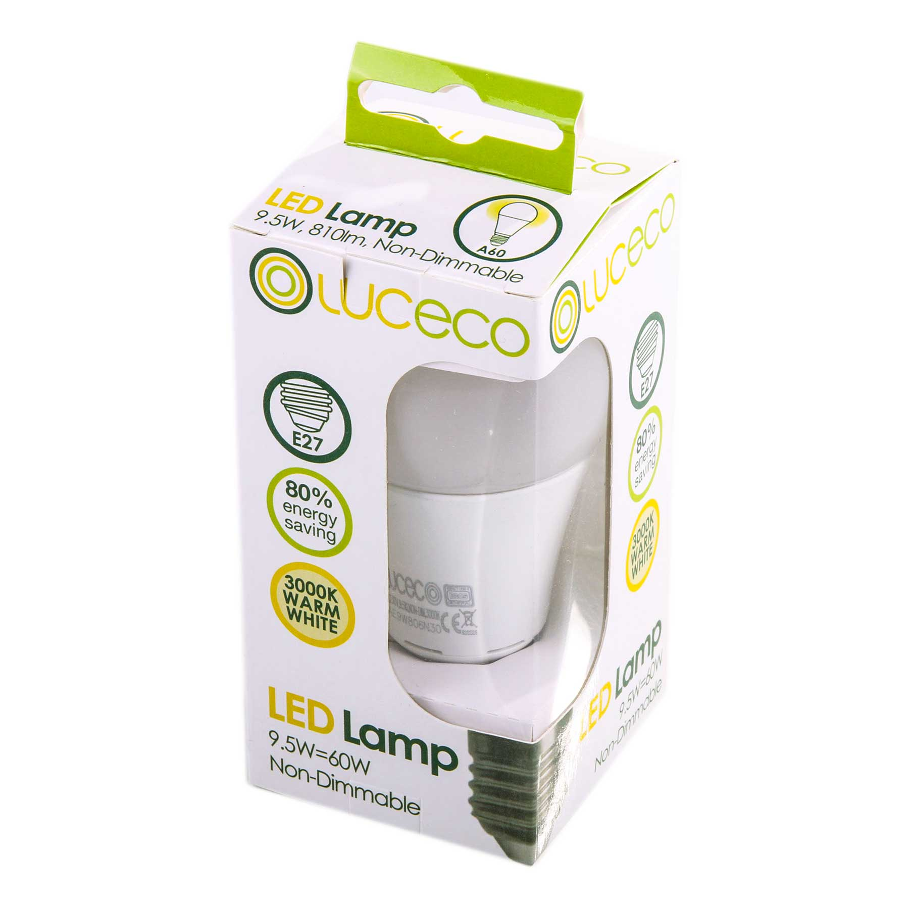 Led Lamp E27 Fitting Luceco Led Light Bulb 9 5w 810 Lumen Screw Cap Fitting E27