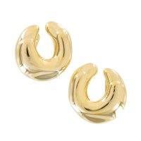 Statement Horseshoe Gold Tone | Clip On Earrings | ajraefields