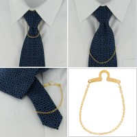 Ky & Co Made In USA Tie Chain Cable Link Button Hole ...