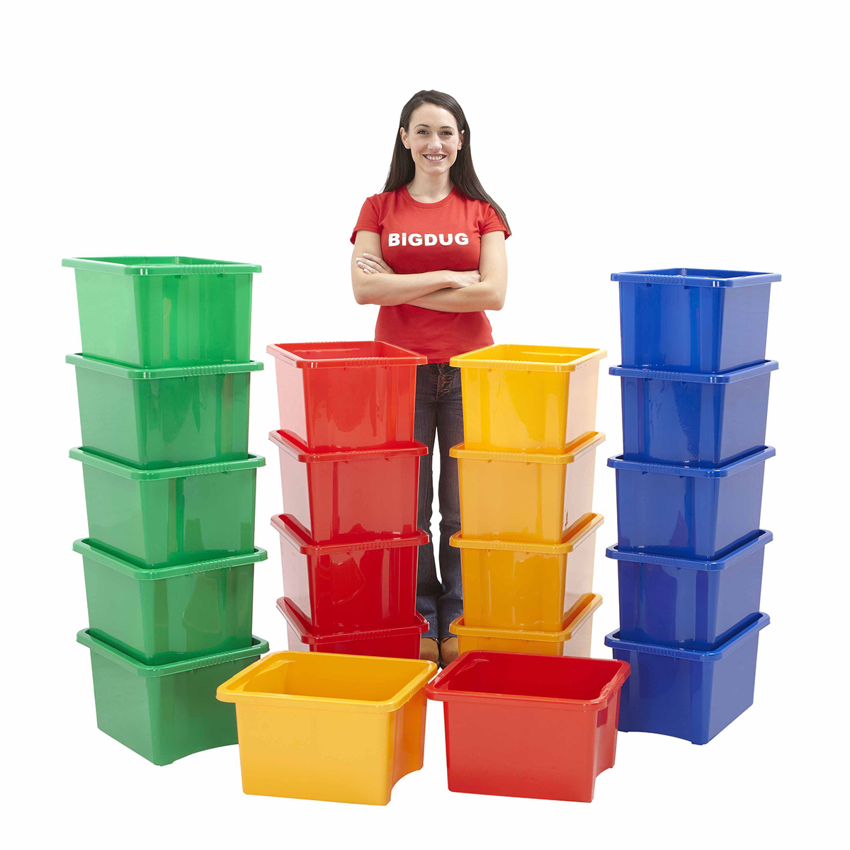 Plastikkisten Stapelbar Plastic Boxes 24 Litre Stackable Storage Containers Garage