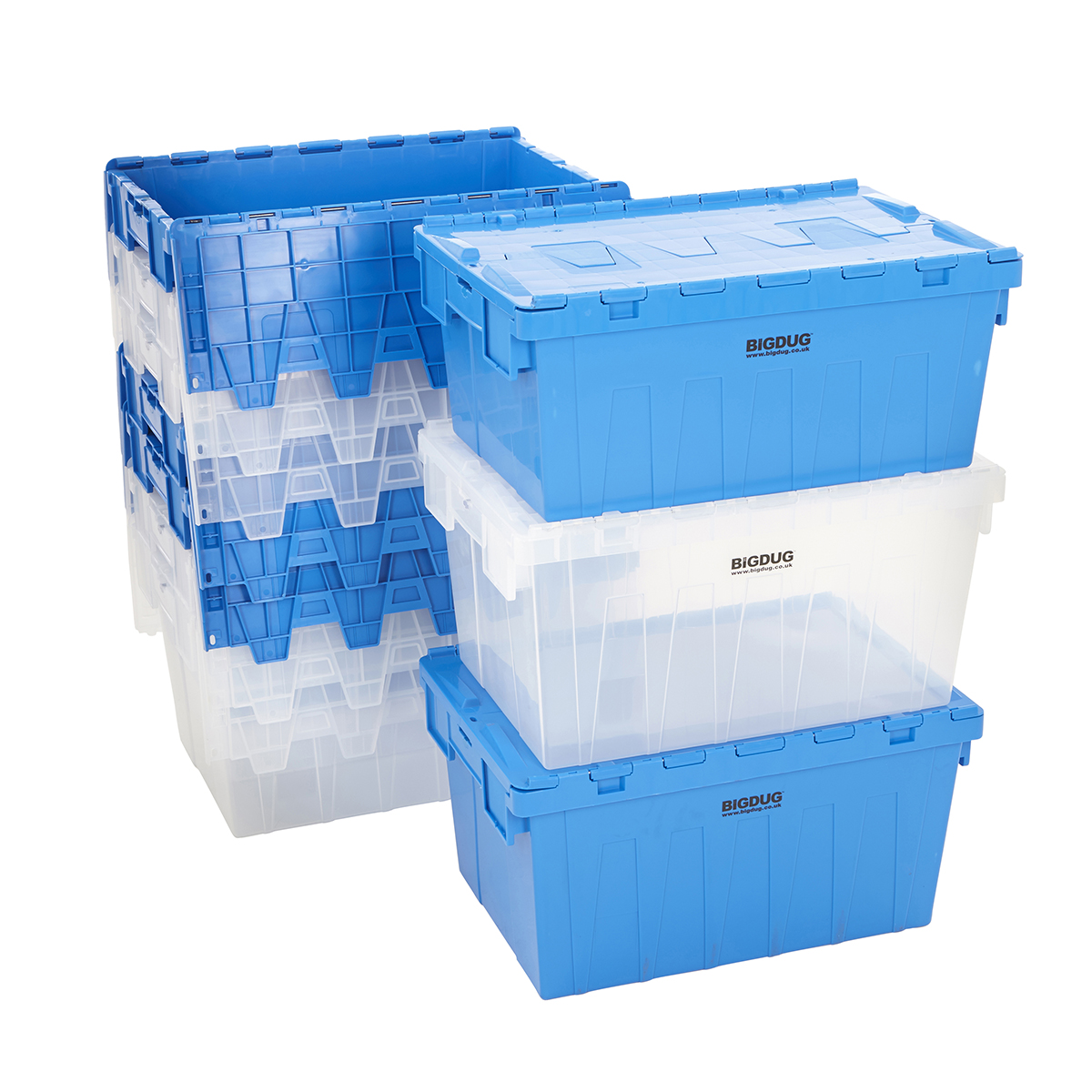 Stackable Storage Bins Storage Containers Tote Boxes Attached Lid Storage Box