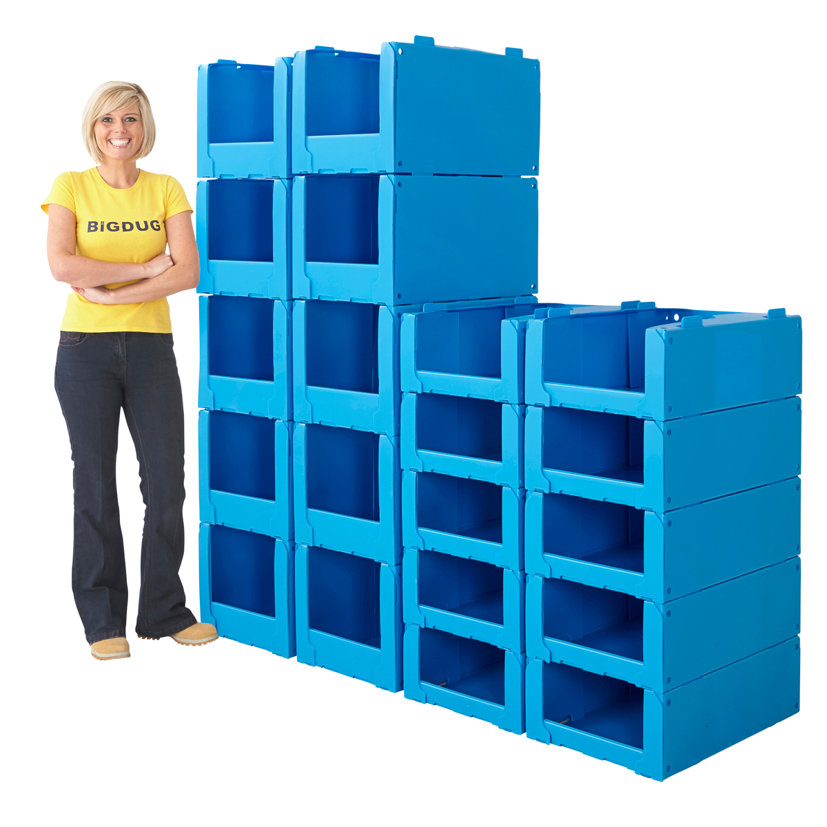 Stackable Storage Bins Pack Of 10 Pick Bins Storage Stackable Plastic Container